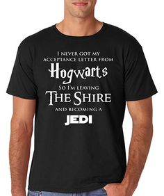 Magical Harry Potter + Lord of Rings + Starwars t-shirt.