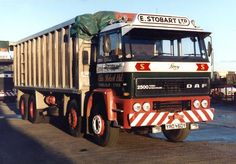 1982 DAF 2500 Bulk, 8 Wheel Tipper (Photograph kindly provided by G Milne) Cool Trucks, Big Trucks, Eddie Stobart Trucks, Old Lorries, Vintage Trucks, Classic Trucks, Race Cars, Transportation, Soldering
