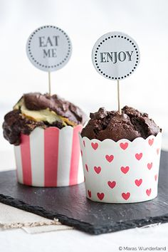 #Cupcake Double Chocolate Muffins with Cheese Cake Filling