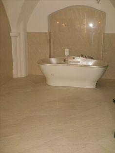 Dolomitstein creme beige Bathtub, Beige, Bathroom, Natural Stones, Standing Bath, Washroom, Bathtubs, Bath Tube, Full Bath