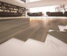 Del Conca 8-in x 32-in Fast Locking Porcelain Wood Floor Tile | Lowe's Canada