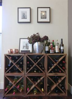 How to create a mini wine cellar on a budget.