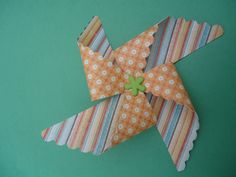 My new project!  pinwheels made with cricut cartridge called Pretty Packages.  4/15