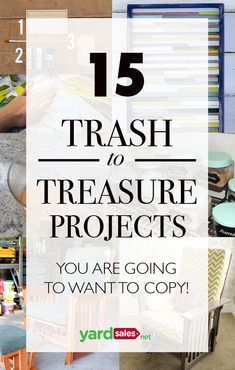 Trash to treasure - 15 Trash to Treasure Projects You're Going to Want to Copy! – Trash to treasure Repurposed Items, Upcycled Crafts, Diy Crafts To Sell, Diy Projects Recycled, Recycled Toys, Recycled Decor, Recycling Projects, Handmade Furniture, Repurposed Furniture