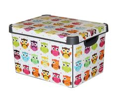 Curver Stockholm Large Design Deco Storage Box with Lid 22L - Owls - FREE P&P | Home, Furniture & DIY, Storage Solutions, Storage Boxes | eBay!