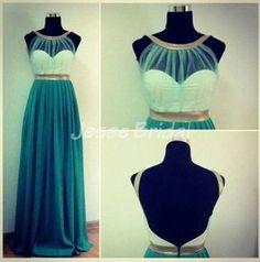 Minze Prom Kleid Chiffon Prom Kleid lange Ballkleid von JesseBridal, $145.99