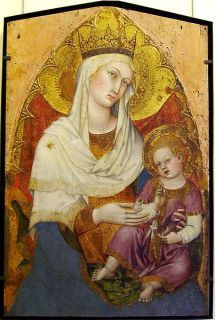 Taddeo di Bartolo, Madonna col Bambino ca 1400 - Musée du Petit Palais, Avignon Madonna Und Kind, Madonna And Child, Blessed Mother Mary, Divine Mother, Religious Icons, Religious Art, Images Of Mary, Italian Paintings, Christian Artwork