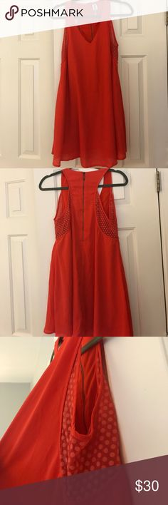 Francesca's Rustic Orange Dress 💖 Worn Once 💖 Adorable and light weight dress worn once and in great condition! Can be dressed up or down! Let me know if you have any questions 🌟🌟 Francesca's Collections Dresses