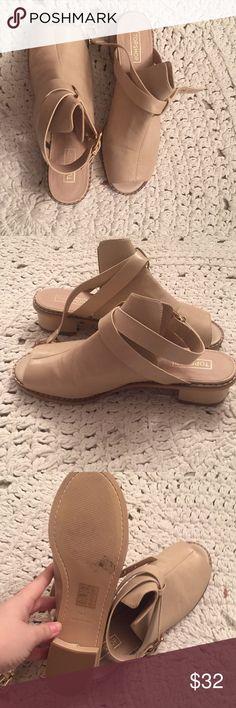 Cream Sandels/ boots Brand new cream Sandels. 2 inch wedge Topshop Shoes