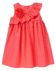 Ruffle Corsage Dress at Gymboree (Gymboree - Baby Dress Frock Patterns, Baby Girl Dress Patterns, Baby Dress Design, Frock Design, Coat Patterns, Blouse Patterns, Clothes Patterns, Sewing Patterns, Frocks For Girls