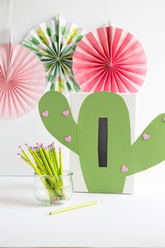 Learn how to make darling DIY Valentine Card Box Ideas using a card box, paper, scissors and glue. Make a unicorn, cactus, gnome or llama! Valentine Boxes For School, Cute Valentines Card, Homemade Valentines, Valentine Day Crafts, Printable Valentine, Valentine Wreath, Valentine Ideas, Diy Valentine's Card Box, Diy Valentine's Box
