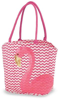 Tote Bag - Flamingo tote umbrella by VIDA VIDA J7B5X