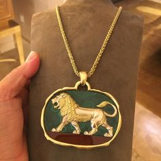 Van Cleef & Arpels, c.1970 🦁 #ForSale #FDGallery Gold Necklace, Pendant Necklace, Van Cleef Arpels, Jewels, My Style, Bijoux, Gem, Gems, Jewelry
