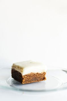 Gingerbread Cookie Bars with Cream Cheese Frosting #foodphotography #foodstyling