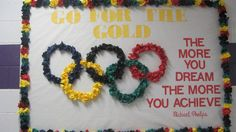 Our Olympic theme bulletin board 2016