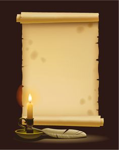 antiguo pergamino, imagen vectorial