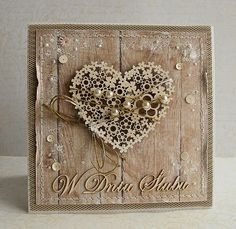 Love the use of neutrals Scrapbooking, Scrapbook Cards, Love Cards, Diy Cards, Shabby Chic Cards, Engagement Cards, Heart Cards, Card Tags, Anniversary Cards