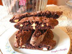 Biscotti al cioccolato e mandorle Italian Cookie Recipes, Italian Cookies, Italian Desserts, Cookie Pie, Cookie Desserts, Muffin, Chocolate, Baking, Zia
