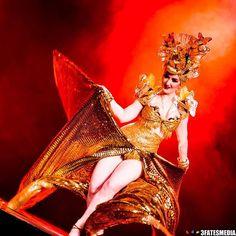 Photo by 3 Fates Media in Sydney. @abfestival #Burlesque #australianburlesque - next stop Canberra! #onstage #actionshot #Mariposa #carmenmiranda