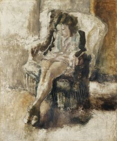 Jules Pascin (Bulgaria 1885-1930 France) Seated girl (1923) oil on canvas