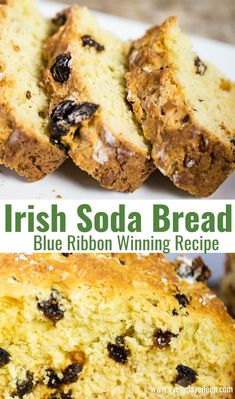 My Granny's Irish Soda Bread recipe a moist cake like bread with a hint of sweetness. This Irish Bread has won numerous blue ribbon baking awards. Enjoy it year round Best Bread Recipe, Quick Bread Recipes, Easy Bread, Baking Recipes, Dessert Recipes, Moist Irish Soda Bread Recipe, Irish Soda Bread With Raisins Recipe, Keto Recipes, Irish Desserts