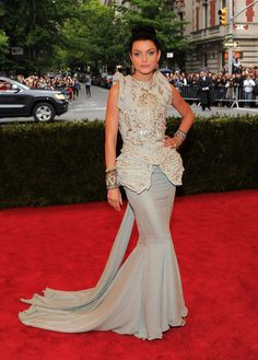 Jessica Stam looking bossy in John Galliano for Dior Haute Coutoure at Met Gala - May 2012
