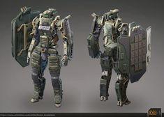 Concept of military robot, Levon. A.