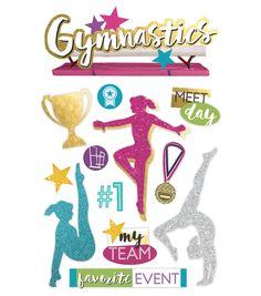 Scrapbooking-Stickers ~ Gymnastics ~ GYMNASTIQUE ~ GYMNASTIQUE ~ SPORT JOLEE/'S