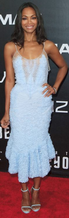 Zoe Saldana in Dress – Givenchy  Shoes – Stuart Weitzman