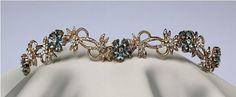 Aquamarine and diamond tiara