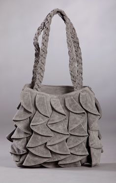 I could make this... Gray Ruffle Purse