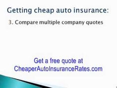 Insurance Quote Car Insurance Quote Comparison  Watch Video Here  Httpbestcar