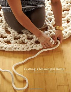 Wow! Love this idea! crocheted rug!
