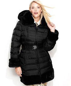 steve madden plus size coat, colorblock pea coat - plus size coats