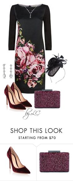 """floral dress"" by explorer-14541556185 ❤ liked on Polyvore featuring Damsel in a Dress, Gianvito Rossi, Sole Society, Suzanne Bettley and Bling Jewelry"
