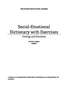 All About Feelings and Emotions: Social-Emotional Dictionary