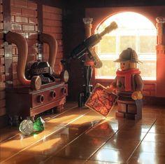 Lego Minifigure Display, Lego Display, Lego Minifigs, Sherlock Holmes, Lego Tree House, Lego Wallpaper, Lego Universe, Lego Sculptures, Lego Pictures