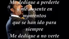 alejandro fernandez me dedique a perderte video original - YouTube
