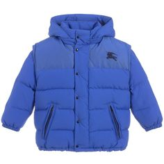 64758b533 brand Blue EZRA Down Jacket at Childrensalon.com Blue Puffer Jacket, Puffer  Jackets,