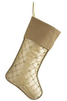 An elegant quilted stocking that will make any holiday mantel more beautiful. #holidays HomeDecorators.com