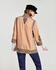 Image 4 of EMBROIDERED VELVET KIMONO from Zara Velvet 58c86fee78b