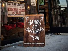 Gangs of San Francisco: A Hayes Valley Hidden Gem Sandwich Board Signs, Twisted Tree, Sign Writing, Farm Shop, Conceptual Design, Environmental Graphics, Chalkboard Signs, Hand Painted Signs, Diy Signs
