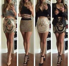 Image about fashion in moda by Maria Erakleous Skirt Outfits, Sexy Outfits, Fall Outfits, Summer Outfits, Fashion Outfits, Womens Fashion, Outfits For Vegas, Woman Outfits, Party Outfits
