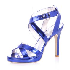 Tidecloth Women's Slingback High Heel Sandals Blue 37 EU >>> Details can be found by clicking on the image.
