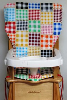 highchair cover baby accessory Eddie Bauer door SewingsillySister