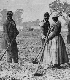 """This picture is from: Photos of 19th-Century African American Women Working."""" Notice by the uniform the man is wearing, he is a Civil War vet. So this picture was most likely taken in the late 1860s or early 1870s. Biddy Craft"""
