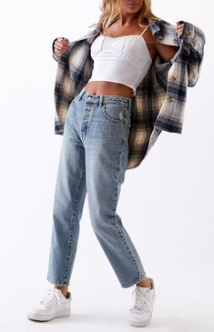 Trendy Fall Outfits, Indie Outfits, Retro Outfits, Cute Casual Outfits, Cute Flannel Outfits, Cute Jean Outfits, 90s Style Outfits, Cute Vintage Outfits, 90s Inspired Outfits