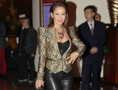Hong Kong lifestyle and entertainment magazine Ming Pao Weekly hosted a party to celebrate its 45th anniversary with local stars in Hong Kong, China, 12 November 2013. Singer Coco Lee was among the celebrity guests.