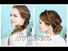 Elsa Frozen hairstyles - like the updo. Frozen Hairstyles, Fancy Hairstyles, Latest Hairstyles, Braided Hairstyles, Love Hair, Gorgeous Hair, Amazing Hair, Kayley Melissa, Disney Hair