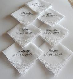 Elegante Taschentücher mit Original Plauener Spitze und individueller Bestickung bei JackyDi